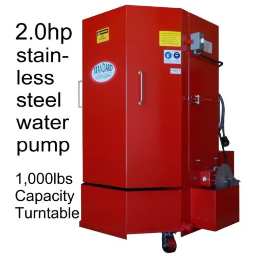 STW-500 Spray Parts Wash Cabinet -5yrs wty 1,000lb cap. 2hp stainless steel pump