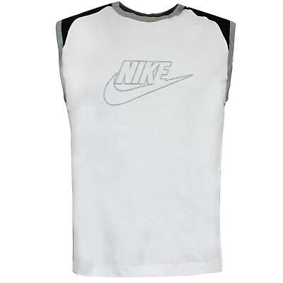 Nike Mens Logo Tank Top Casual Gym Vest White 329554 100