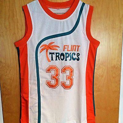 Jackie Moon #33 Semi Pro Basketball Jersey Flint Tropics Will Ferrell All Sizes
