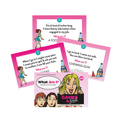 What Am I Innuendo Riddles Hen Party Games Night Card Riddle Drinking Game Adult - Adult Game Night Games