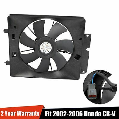 A/C AC Air Conditioning Condenser Cooling Fan Motor & Shroud For 02-06 CR-V CRV A/c Condenser Fan Shroud Assembly