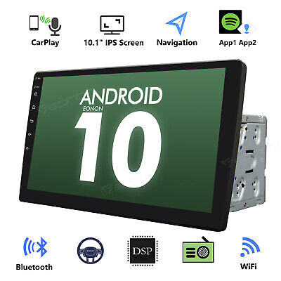 "Eonon 10.1"" Smart Android 10 4G WiFi Double 2DIN Car Radio Stereo GPS Bluetooth"