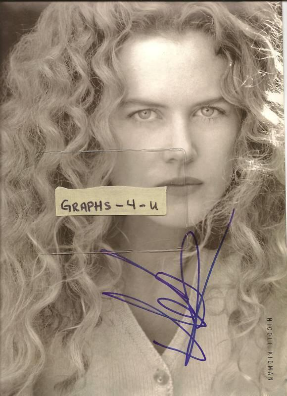 Nicole Kidman Autograph signed picture