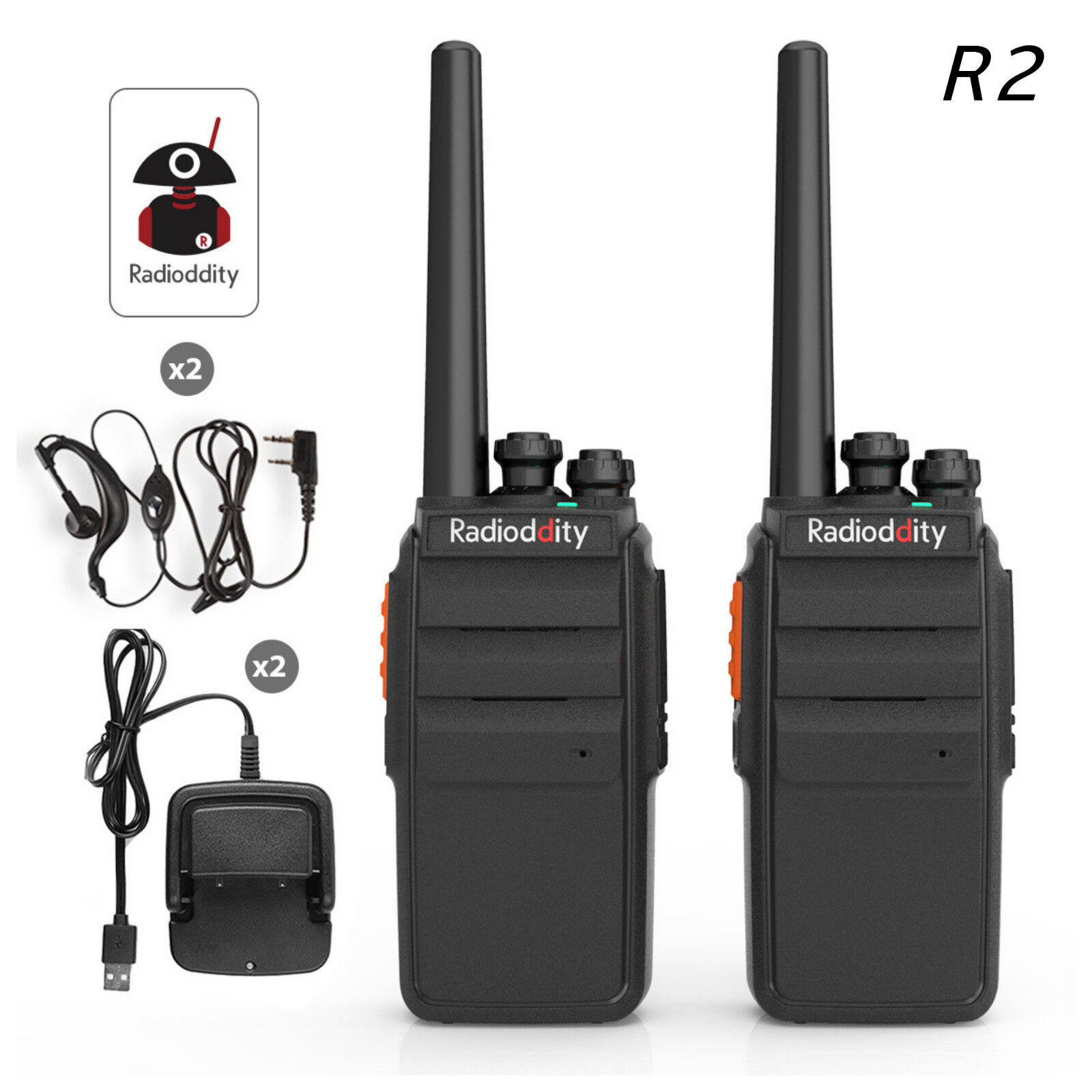 Details about 2x Radioddity R2 > Baofeng BF-888s UHF Scrambler Walkie  Talkie Two way Radio US