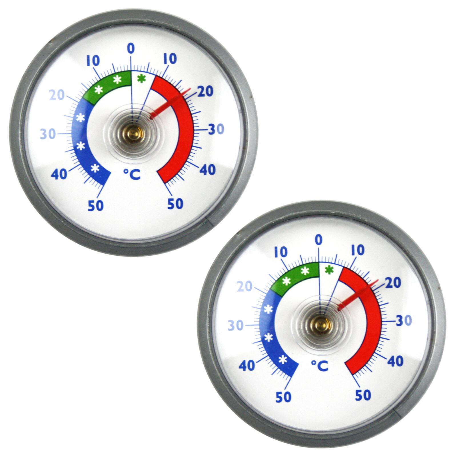 2 Stk Kühlschrank Thermometer Set Gefriertruhen Kühl Gefrierschrank Kühltruhe