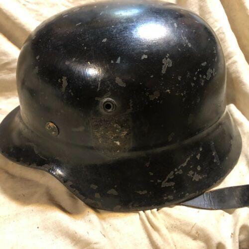 WW2 GERMAN M40 DD BEADED POLICE FIRE HELMET