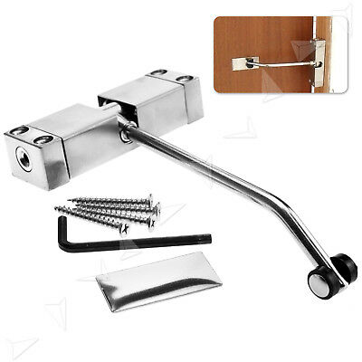 Adjustable Steel Spring Door Closer Automatic 97 X 30x 20mm For 20-40kg Doors