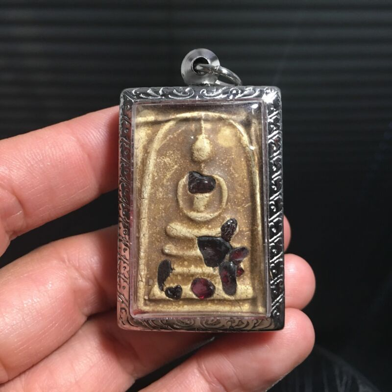 Beautiful Somdej Relics Buddha Thai Amulet Luck Rich Charm Attract Protect Vol.2