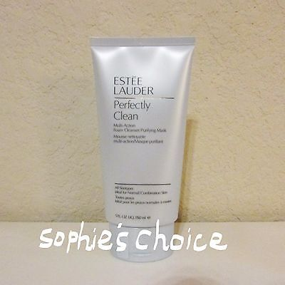 Estee Lauder Perfectly Clean Multi-Action Foam Cleanser/Purifying Mask 5 OZ/Full