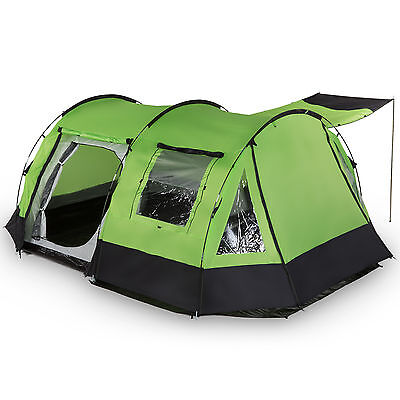 skandika Kambo 4 Personen Familienzelt Campingzelt Tunnel Moskitonetze NEU