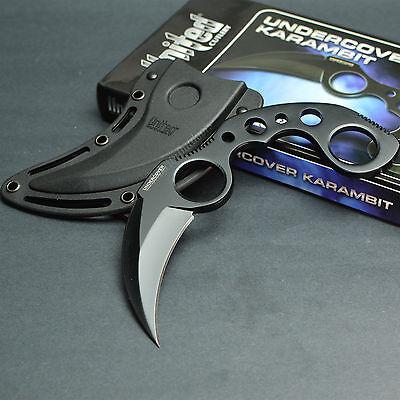 United Cutlery Black Finish Undercover Karambit Fixed Blade Knife UC1466B New!