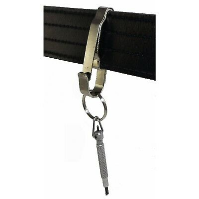 Corrections Key Clip Heavy Duty Key Holder Tactical Police Security Silver Tool