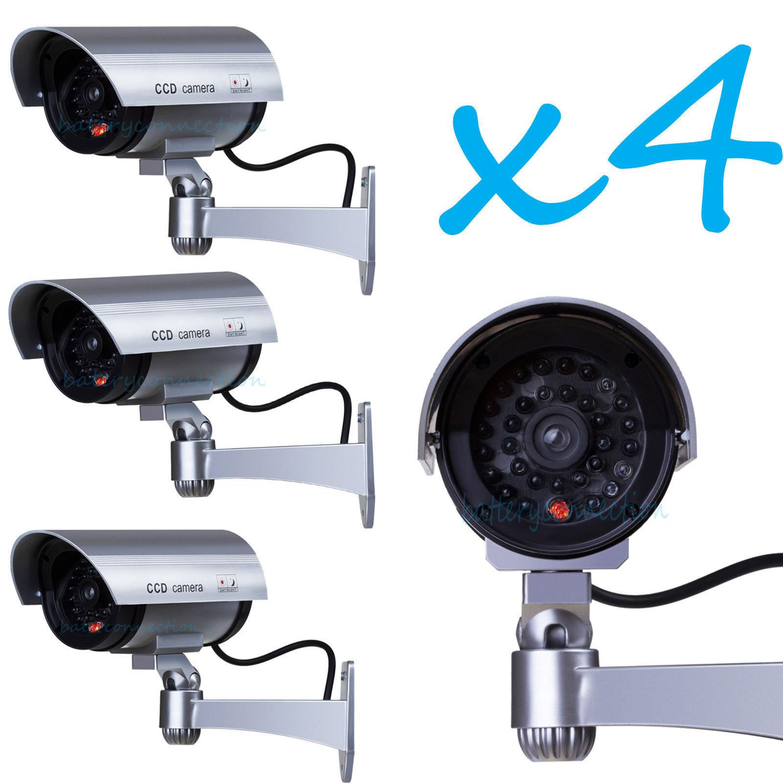 Bullet Dummy Fake Camera Indoor Outdoor with 30 Illuminating LED Light S30-4