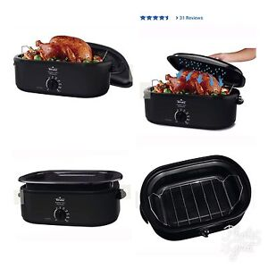 RIVAL ROASTER OVEN WITH SELF BASTING LID