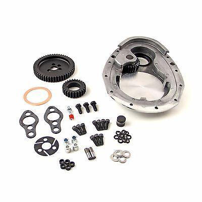 SBC Noisy Timing Gear Drive Set & Aluminum Timing Cover Set 350 383 Small Block