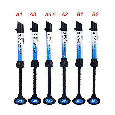 Dx 10pc Dental Universal Curing Light Composite Resin Refill Syringe Shade A1-b2