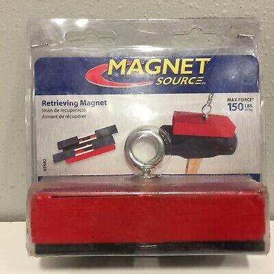 Master Magnetics 07542 5 Ceramic Retrieving Magnet 150 Pull 3.4 Mgoe Red 1 Pc