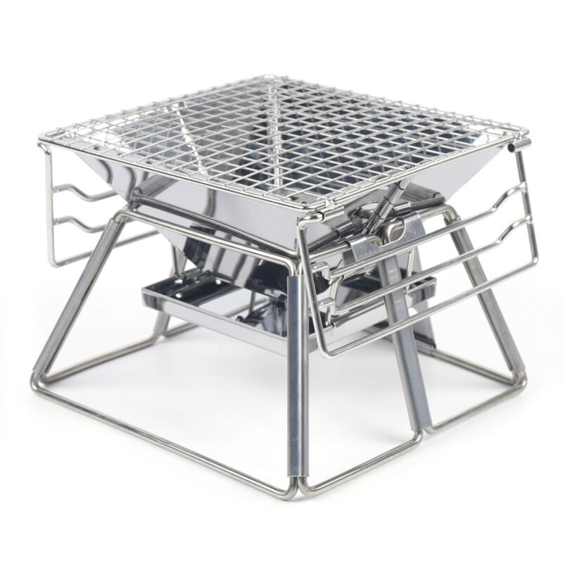BBQ Oven Portable Barbecue Stove Outdoor Camping Grill Cooking Device Adjustable