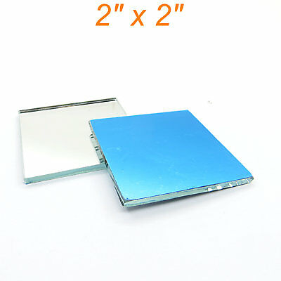 2pcs 2x2 Glass First Surface Mirror - 96 Reflective Optical