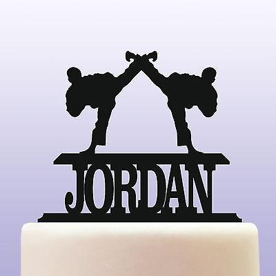 Personalised Acrylic Tae Kwon Do Martial Arts Birthday Cake Topper Decoration