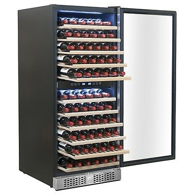 116 Bottle Dual Zone Built-in Compressor Freestanding Wine Cooler Refrigerator