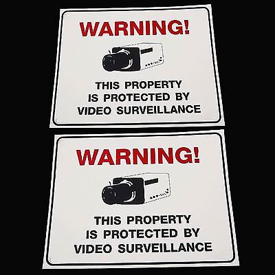 Lot Of Outdoor Security Surveillance Spy Cctv Ccd Video Camera Yard Warning Sign