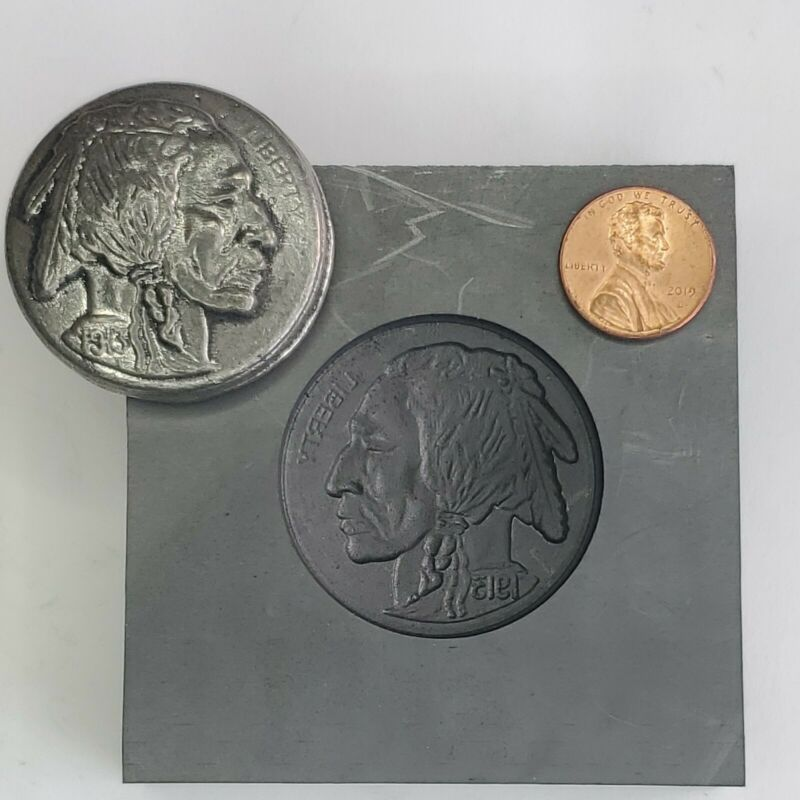 Indian Head 3D Graphite Ingot Mold Gold Silver Copper Melting Casting Refining