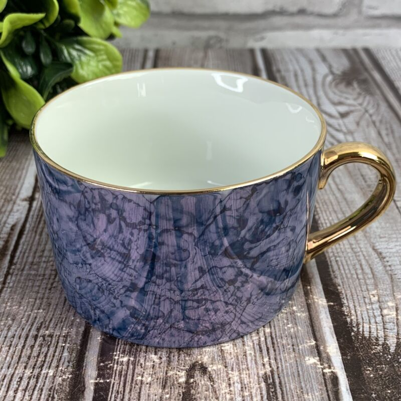 Lusterware Blue Marble Tea Cup ONLY Fine Porcelain Herman Dodge Made in Japan