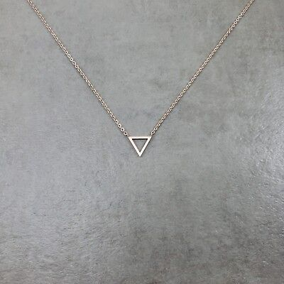 Triangle ROSE GOLD Necklace Gift Box Shape Geometric Polygon Point (Triangle Gift)