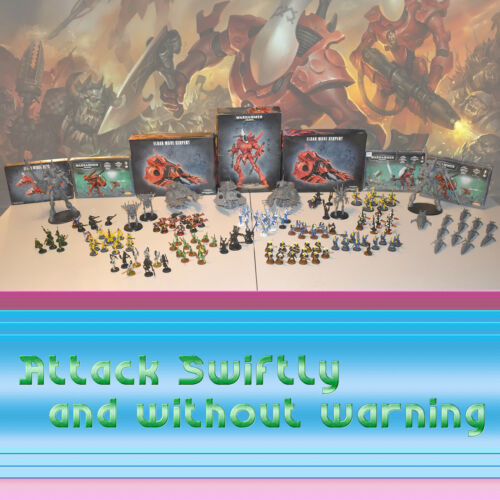 Warhammer 40K Eldar Craftworlds & Harlequin Army Lot • New / OOP Metal • Painted