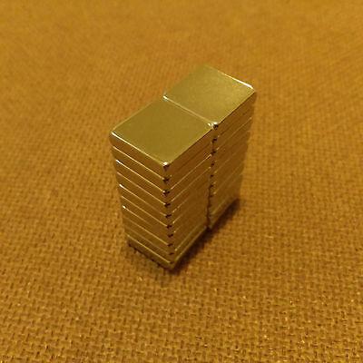 20 N45 Neodymium 12 X 12 X 18 Inches Blockbar Magnet.