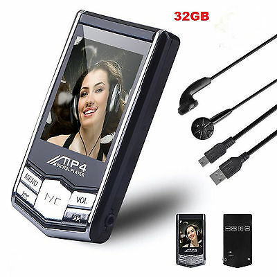 New32 gb MP3/MP4 Player Slim LCD Video Photo FM Radio Media Music Player 4th