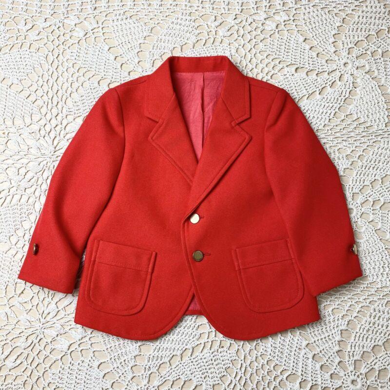 Vintage Montgomery Ward Red Blazer Baby Boy 2t Valentine's Jacket