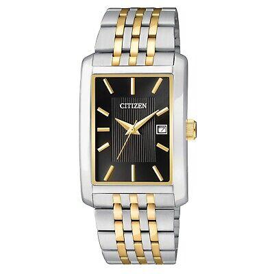 Citizen Men's BH1678-56E Quartz Rectangle Case Two-Tone Bracelet 26mm Watch