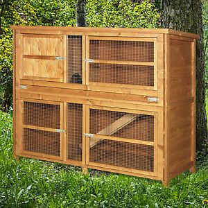 4ft Chartwell Double Luxury Large Rabbit Hutch