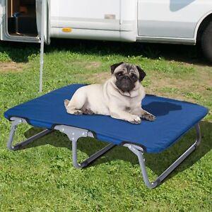 NB- 28'' x 24'' Lit pour chien Pliable Surélevé Camping - bleu