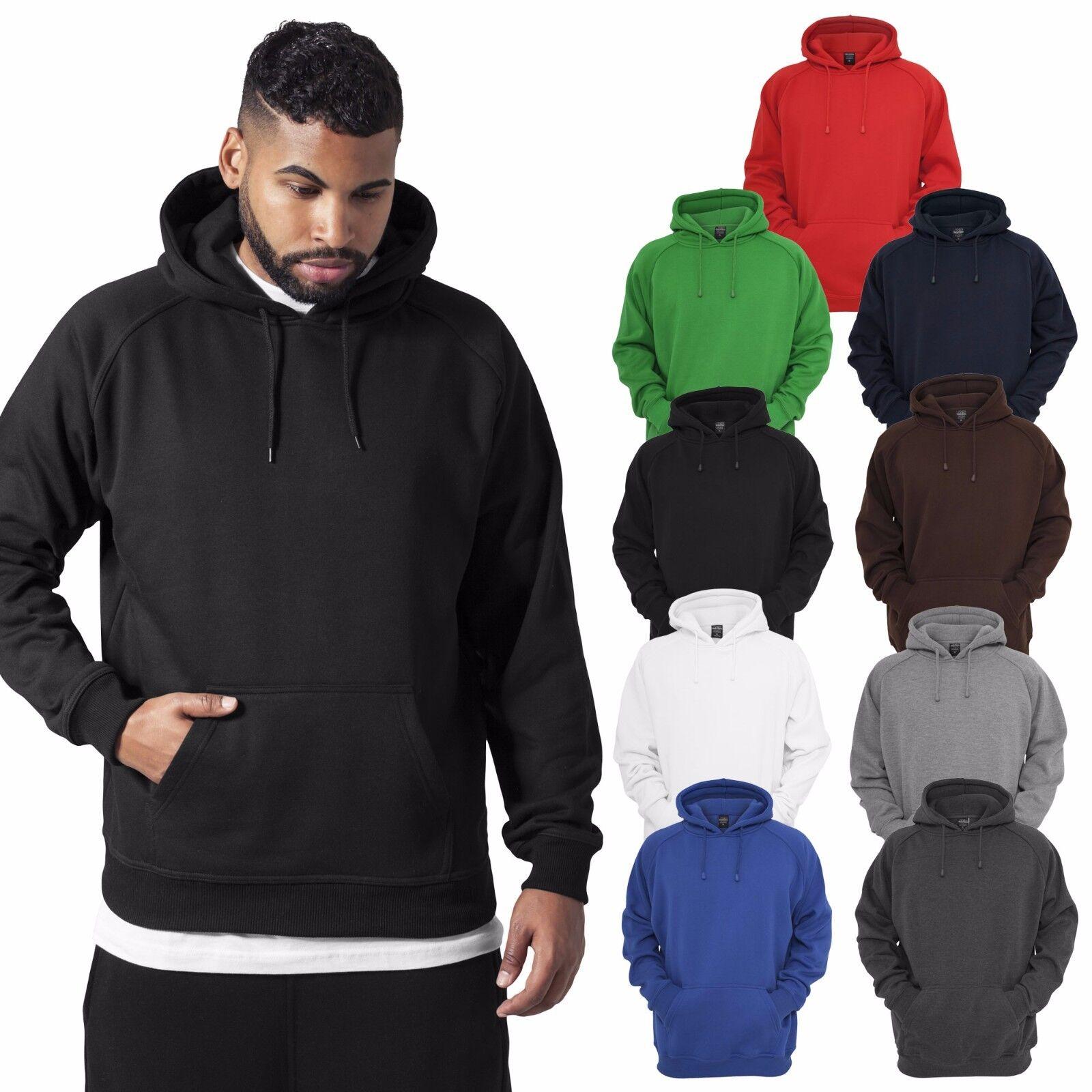 URBAN CLASSICS Blank Hoody Pullover Hoodie Sweatshirt Club Sport Fitness S - 5XL