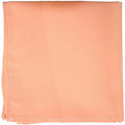New Men's Polyester Dual Complexion Pocket Square Hankie Only Peach Pink