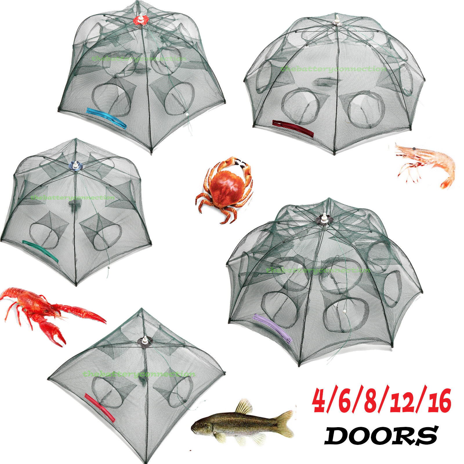 Fishing Bait Trap Crab Net Crawdad Shrimp Cast Dip Cage Fish Minow Foldable NEW Fishing