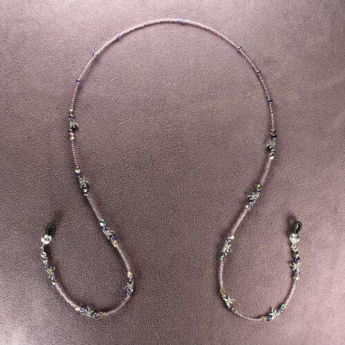 DRAGONFLY EYEWEAR NECKLACE Eye Sun Glasses Keeper Holder Retainer Beaded Chain