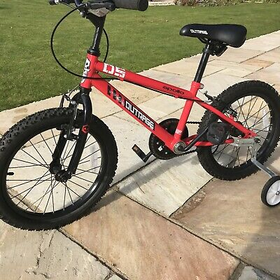 """Apollo Outrage 18"""" Wheel Junior Mountain Bike Bicycle - RED. Excellent Condition"""