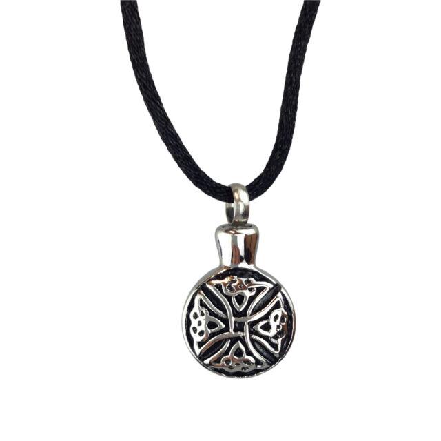 Celtic Eternity Knot Urn Pendant - Memorial Ash Keepsake - Cremation Jewellery jPq8ld