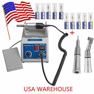 Dental Lab Marathon Handpiece 35k Rpm Electric Micromotor 10 Drills Us