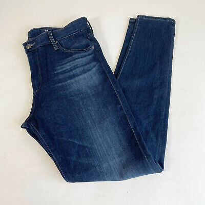 AG Adriano Goldschmied The Farrah High-Rise Skinny Jeans Size 31R Blue Women's