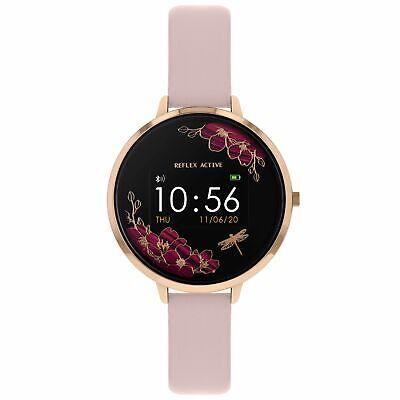 RA03-2038 Reflex Active Smart Watch rose gold Case pink Strap