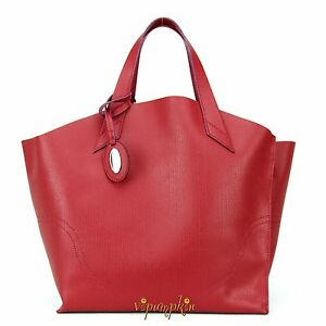 FURLA JUCCA LIPSTICK RED SAFFIANO LEATHER SHOPPER TOTE BAG BNWT $278