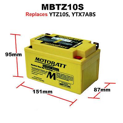 <em>YAMAHA</em> MT07 700 MT 07 TRACER 2016 MBTZ10S MOTOBATT PREMIUM POWERSPORTS