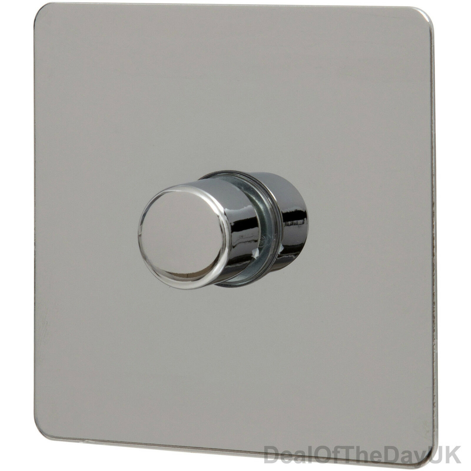 dimmer switch chrome single double triple 1 3 gang 2 way push on off flat plate. Black Bedroom Furniture Sets. Home Design Ideas