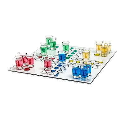 Drinking Ludo Spiel Gesellschaftsspiel Trinkspiel Saufspiel Partyspiel Shotglas