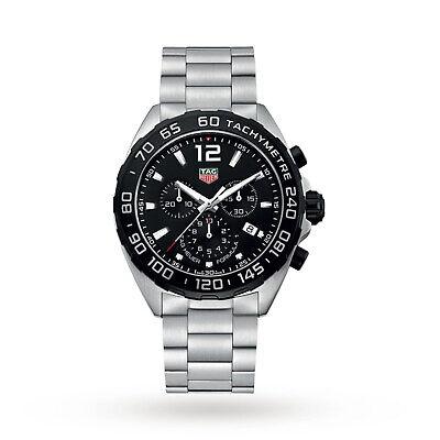 Relógio de luxo Tag Heuer Formula 1 masculino com cronógrafo, quartzo 43mm CAZ1010.BA0842